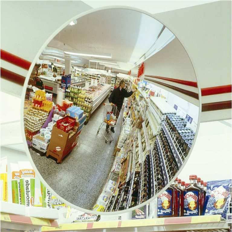 Bezpečnostní zrcadlo v obchodech AC SYSTEMS Praha